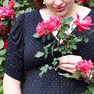 MAMA H&M | Maternity black polka dot dress